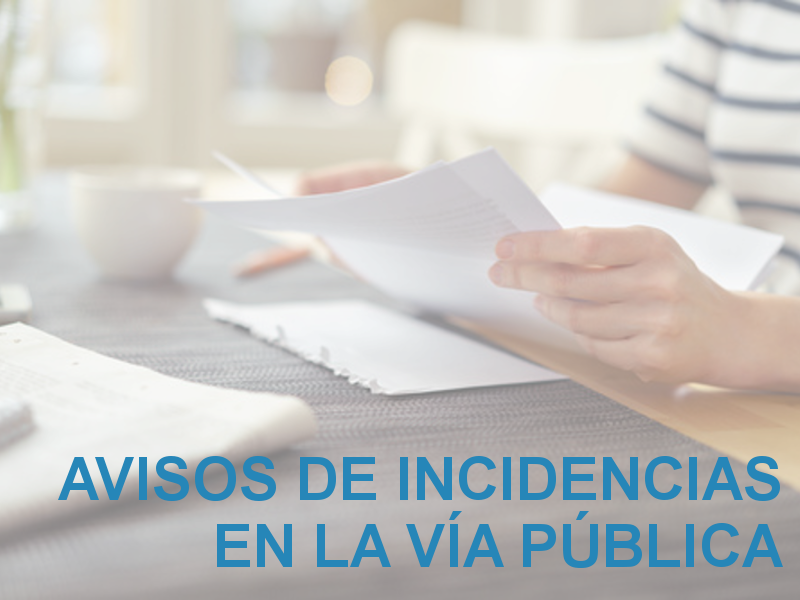 Avisos de Incidencias