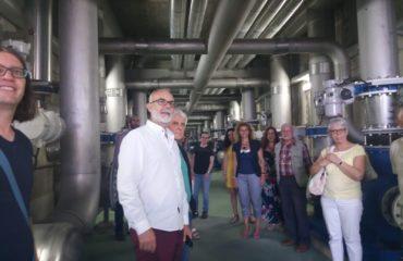 Rosa Arrabal, miembros de la Corporación y Asociaciones visitan la EDAR de Algeciras