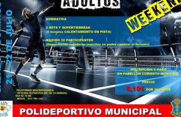 Torneo Weekend de Tenis Indidual Adultos 2018