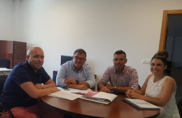 Reunión de trabajo del Ayuntamiento de Nerja y Fundación Cueva de Nerja