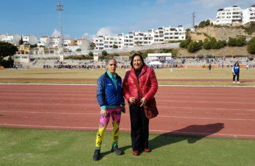 Clausura de los juegos escolares de atletismo