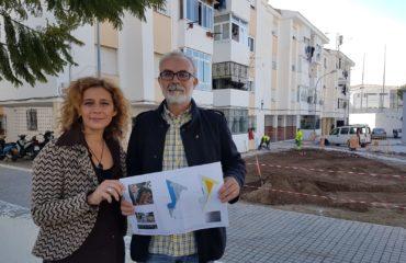 La sustitución del pavimento de la Plaza de Calle Carlos Millón en proceso