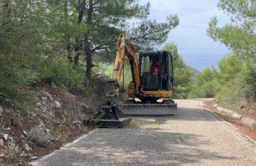 Limpieza de los carriles y caminos de Río de la Miel, Castillejos y Cantarriján
