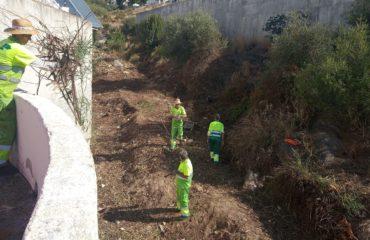 Continúan los trabajos de limpieza y desbroce para mejorar la imagen del municipio