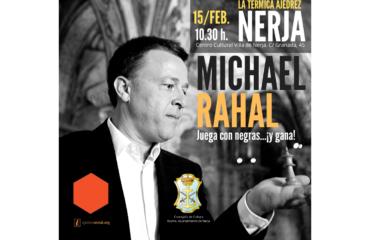 Charla del maestro de ajedrez Michael Rahal en Nerja