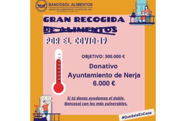 El Ayuntamiento de Nerja dona 6.000 euros a Bancosol para la compra de alimentos