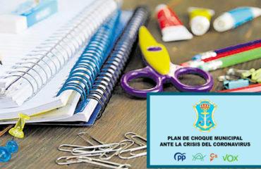 Plan de Choque: Lista de ayudas para el pago de material escolar
