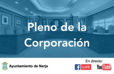 Sesión ordinaria del Pleno de la Corporación