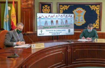 El Ayuntamiento firma el convenio de colaboración con la Asociación Española Contra el Cáncer