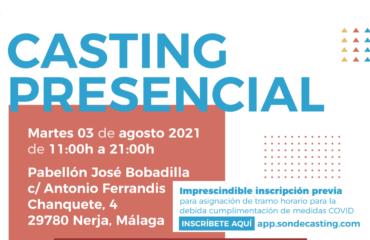 El Pabellón José Bobadilla Álvarez acoge el casting para el rodaje de una serie internacional en Nerja