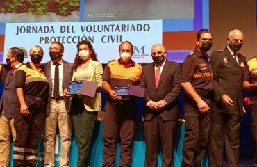 La Diputación Provincial homenajea a los voluntarios de Protección Civil de Nerja por su labor durante la pandemia